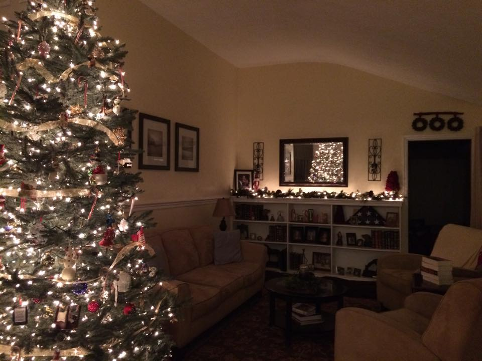 I Love That Can Have A Tall Tree And My Husband The Girls Went Out To Look For Our Eight Footer